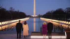 Biden, Harris honor COVID-19 victims at Lincoln Memorial on eve of Inauguration Day 2021