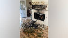 Fire department issues warning after Christmas tree fire