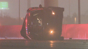 3 vehicles involved in early morning crash on 635