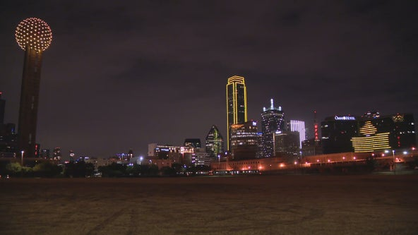 Dallas skyline goes amber to honor COVID-19 victims