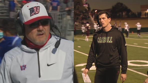 Father and son face off as opposing coaches in state championship football game