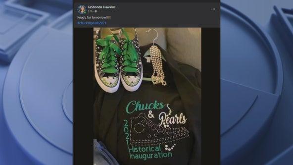 Vice President Kamala Harris fans sport Chucks and pearls on Inauguration Day