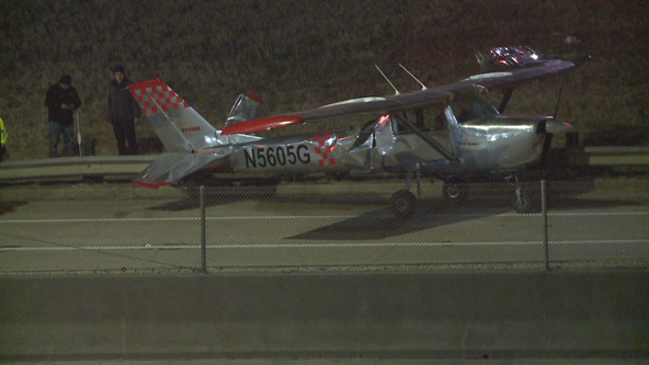 Plane lands on I-35 in Cooke County after reporting engine trouble
