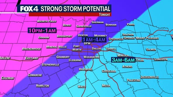 Storms in the forecast Sunday night, and some could be strong to severe