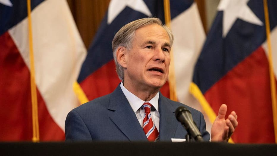 AUSTIN, TX - MAY 18: Texas Governor Greg Abbott announces the reopening of more Texas businesses during the COVID-19 pandemic at a press conference at the Texas State Capitol in Austin on Monday, May 18, 2020. (Photo by Lynda M. Gonzalez-Pool/Getty Images)