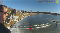 Irving police and fire rescue couple from frozen pond