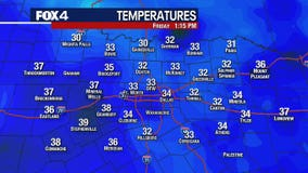 DFW back above freezing temperature after 139 hours at or below 32 degrees