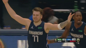 Doncic hits last-second 3 to lift Mavs over Celtics 110-107
