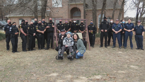 Tarrant Co. Sheriff's Office holds parade for 13-year-old Azle boy battling terminal brain cancer