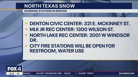 Denton opens warming stations during extreme cold