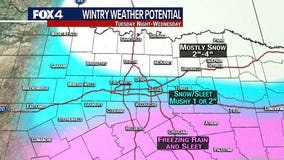 More snow, sleet, ice expected Tuesday night, Wednesday across North Texas