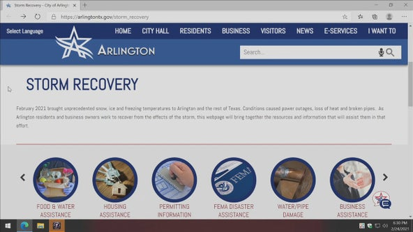 City of Arlington sets up storm recovery website for residents needing help