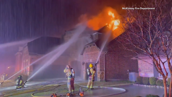 Lightning may be to blame for several fires in Collin and Denton counties overnight