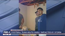 High school football team helps Hurst family move out of storm-damaged apartment