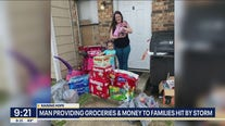 Man surprising Texas storm victims with money and groceries