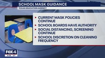 TEA: Mask mandate to stay in effect, but school boards can vote to remove them