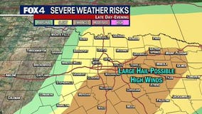 Chance of severe weather for much of North Texas Wednesday night