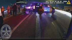 Three Irving police officers nearly hit by suspected drunk driver