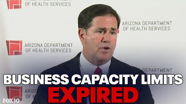 Gov. Ducey ends COVID-19 occupancy limits for Arizona businesses