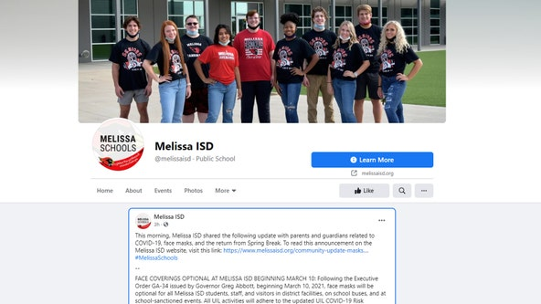 Melissa ISD makes face masks optional for students and staff
