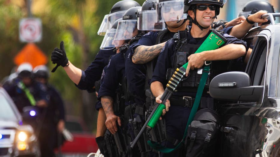 Protests continue against police brutality and racial discrimination in Los Angeles, CA.The protests were sparked by the death of George Floyd.