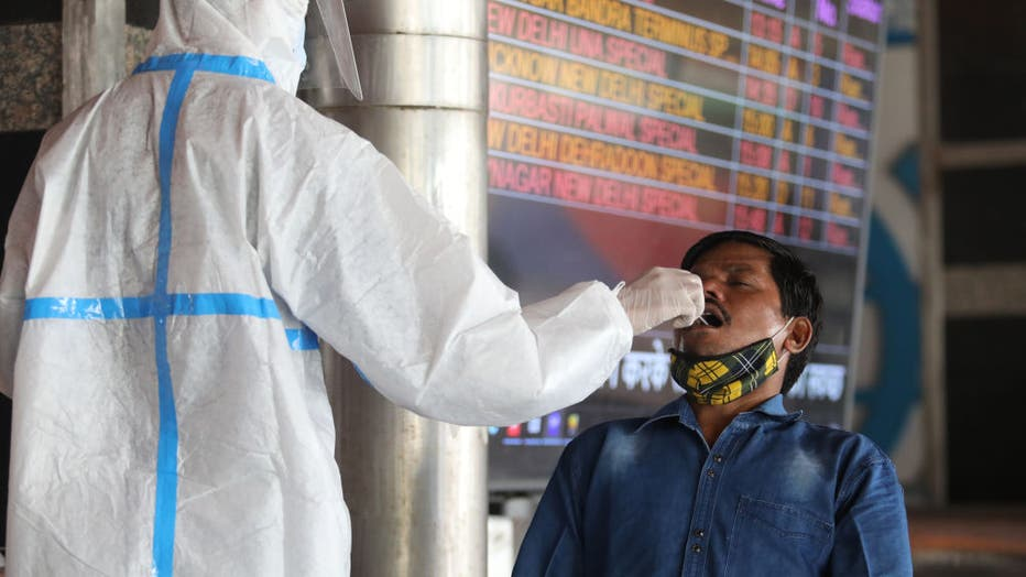 A Health worker wearing a personal protective equipment (PPE