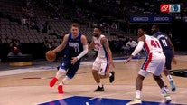 Doncic, Mavs beat Pistons 127-117 to stop 4-game home skid
