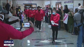 Diamond Hill Jarvis High School boys soccer team given special send-off as they head to state finals