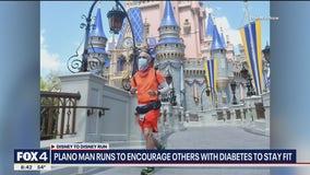 Plano man runs from Disneyland to Disney World to inspire others