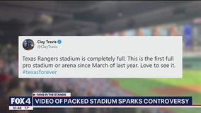 Sam's video of packed Globe Life Field sparks controversy