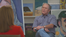 President Bush lobbies for immigration reform with paintings now display in Dallas