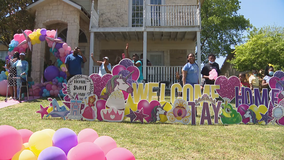 Dallas woman who spent months in the hospital due to COVID-19 welcomed home with car parade