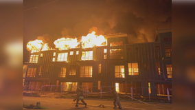 4 buildings at under construction apartment complex destroyed by fire in Dallas