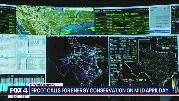 ERCOT calls for energy conservation on mid April day