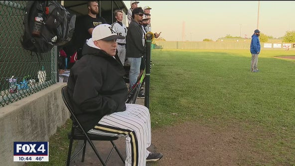 Kaufman baseball coach doesn't miss a game while battling cancer