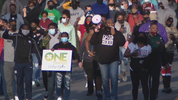 DeSoto community gathers for prayer, march in wake of Derek Chauvin verdict