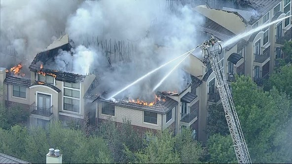 Dozens displaced after four-alarm fire at Addison apartment complex