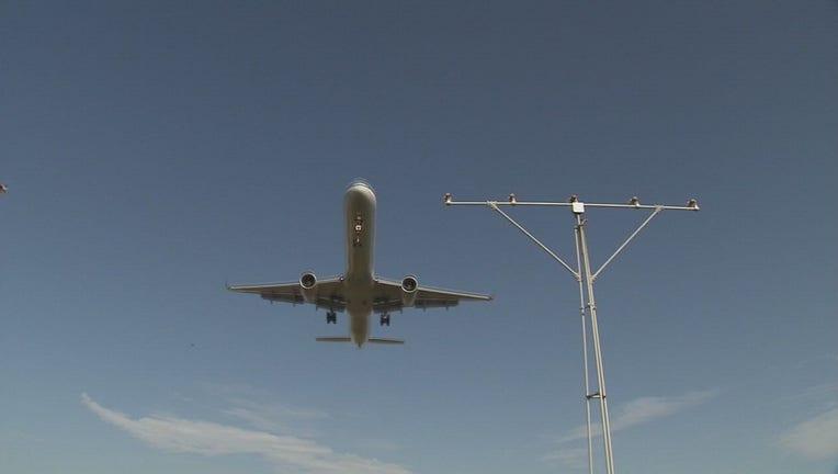 wjbk-plane in sky-091020