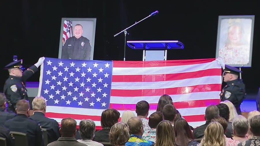 Memorial service held for Celina officer & daughter killed in crash