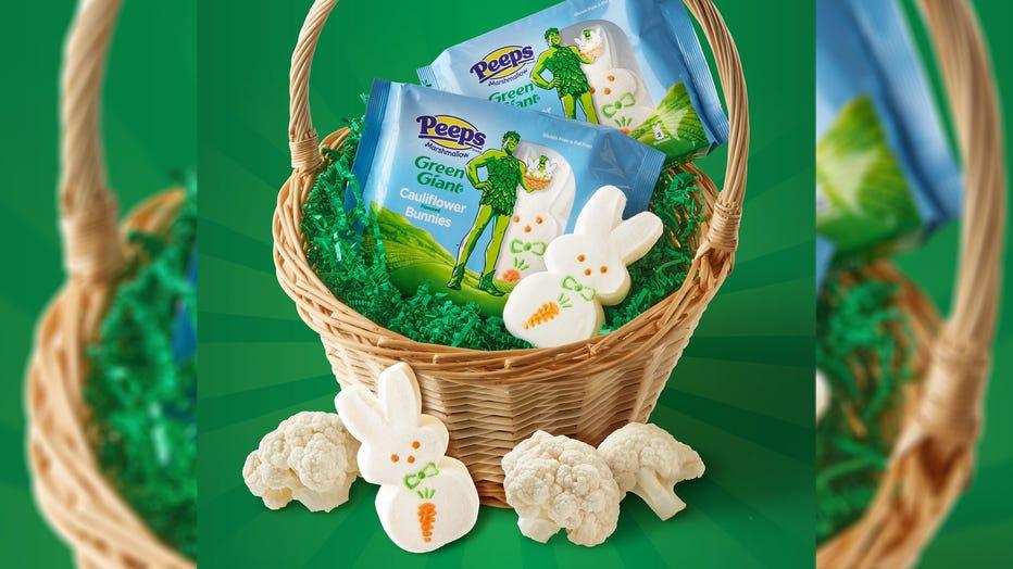 Easter Peeps basket 16x9