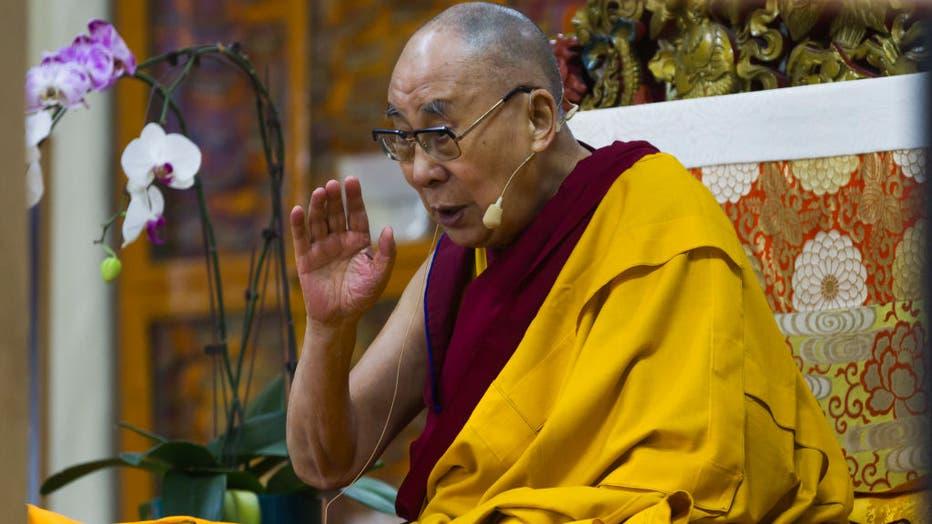His Holiness the Dalai Lama during the teaching at Tsughla