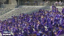 TCU hosts in-person graduation ceremonies for Class of 2020, 2021; TWU holds drive-thru event at TMS