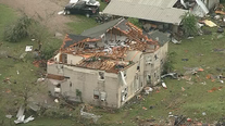 Cleanup begins after at least five tornadoes cause damage across North Texas