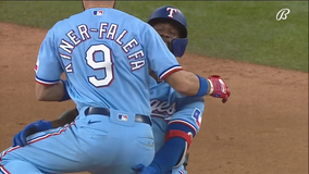 Garcia beats Astros in 10th again, Rangers sweep in 3-2 win