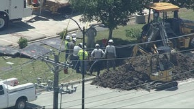 Natural gas leak prompts closures and evacuations in Frisco