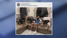 Frisco PD: Loose Rottweiler dog owned by Ezekiel Elliott bit two people