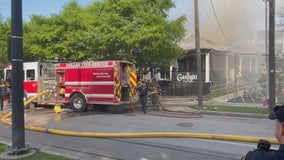Gaslight Restaurant and Bar in Uptown Dallas heavily damaged by fire