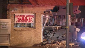 Vehicles crash into Fort Worth business