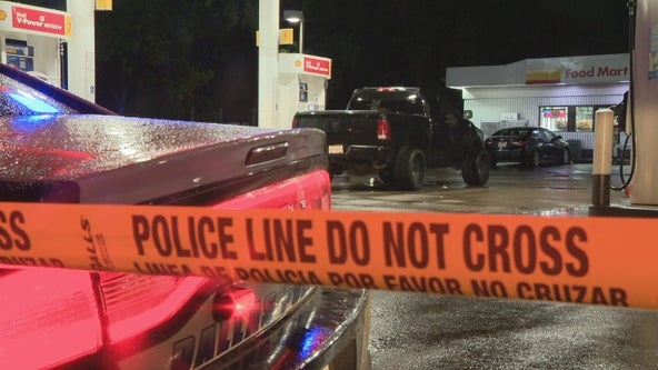Toddler hospitalized after shootout at Dallas gas station