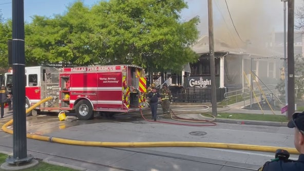 Fire breaks out at the Gaslight restaurant and bar in Uptown Dallas